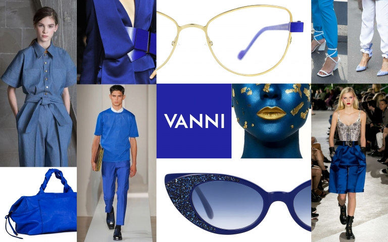 The colour of fashion is classic blue